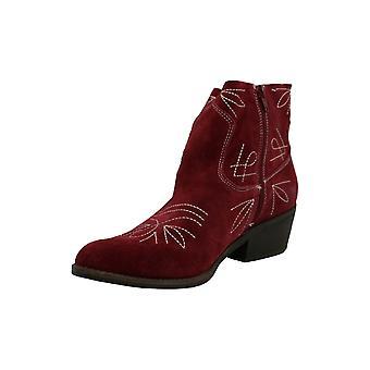 Lucky brändi naisten Floriniah kangas terävä kärki nilkka cowboy saappaat