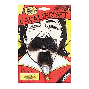 Bristol Novelty Cavalier Moustache and Beard Set