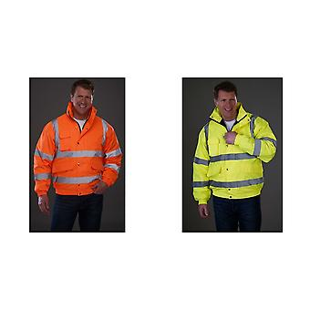Grafters Unisex Hi-Visibility Waterproof Bomber Jacket