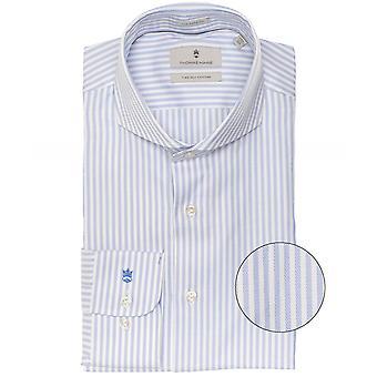 Thomas Maine Tailored Fit Striped Bari Shirt