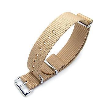 Strapcode n.a.t.o Uhrenarmband Miltat 20mm g10 Militärische Sarm ballistische Nylon Armband, poliert - Sand