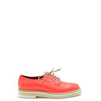 Santoni Ezbc023012 Women's Orange Leather Lace-up Shoes