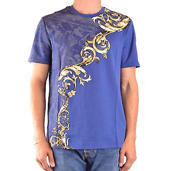 Versace Ezbc070022 Mænd's Blå Bomuld T-shirt