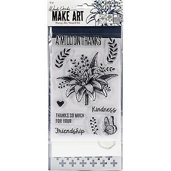Wendy Vecchi fabrique un timbre d'art, Die et Stencil Set - Un million de remerciements