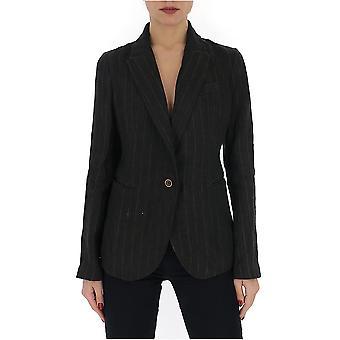 Uma Wang Up6002q27p0uw092 Women's Black Linen Blazer
