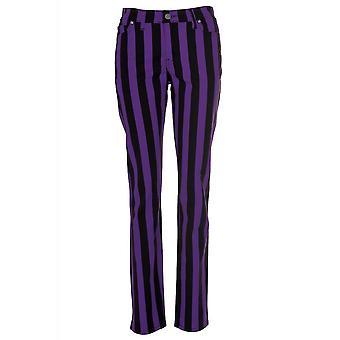 Run & Fly Purple Stripe Stretch Skinny Jeans