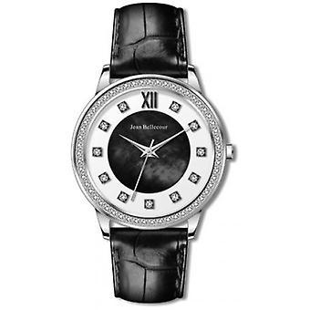 Jean Bellecour REDK3 Watch - Black Mother-of-Pearl Woman Watch