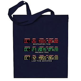 Back To The Future Delorean Time Machine Totebag