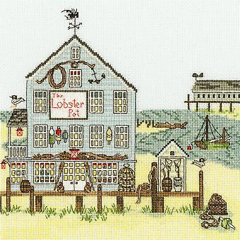 Bothy Threads Cross Stitch Kit - Uusi-Englanti: Hummeri Pot