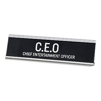 Harvey Makin C.e.o. - Chief Entertainment Officer Desk Plaque