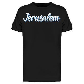Jerusalem Kalligraphie Tee Men's -Bild von Shutterstock