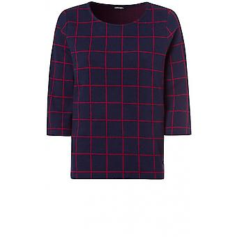 Olsen Blue & Red Check Top