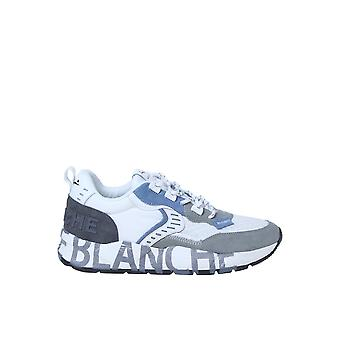 Voile Blanche 1b58001201482801 Men's White Fabric Sneakers