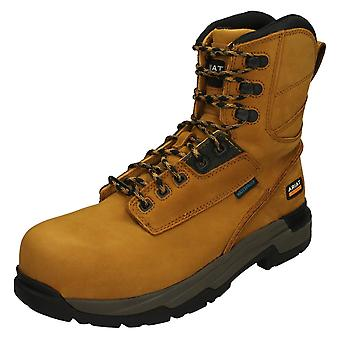 Mens ARIAT Waterproof Composite Toe Work Boots MasterGrip 8-quot;