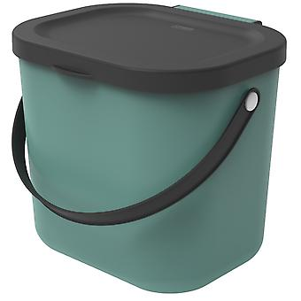ROTHO Recycling Waste System ALBULA 6 l Dark Green | Compost buckets for more sustainability in the home