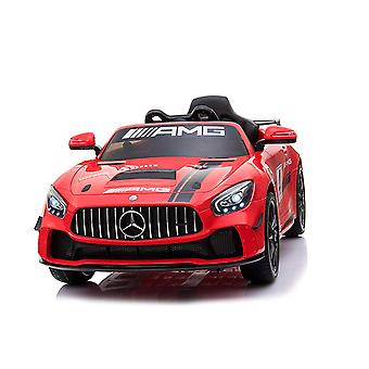 Licensed Mercedes Benz GT4 AMG Sports Edition 12V Electric Ride on Car Red