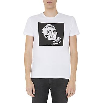 Alexander Mcqueen 611010qozb40900 Män's White Cotton T-shirt