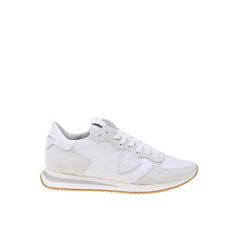 Philippe Modelo Tzlu5001 Men's White Fabric Sneakers