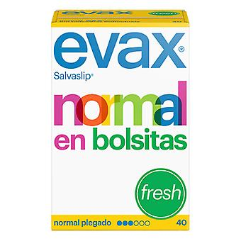Normal trusseindlæg frisk Evax (40 uds)