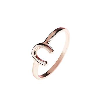 Latelita 925 Sterling Silver Horse Shoe Ring Rose Gold Plain Stacking Lucky