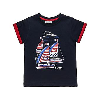 Alouette Boys' T-Shirt With Engraved Print And Sleeve Sleeves