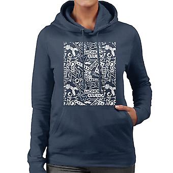 Mixed Board Games Collection Montage Women's Hooded Sweatshirt