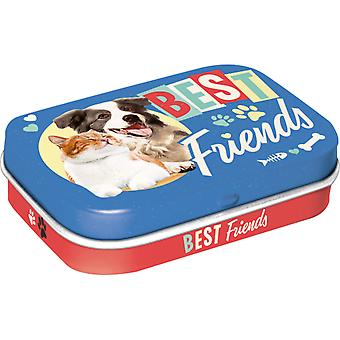 Cat & Dog Best Friends Nostalgic Sugar Free Mint Tin - Cracker Filler Gift