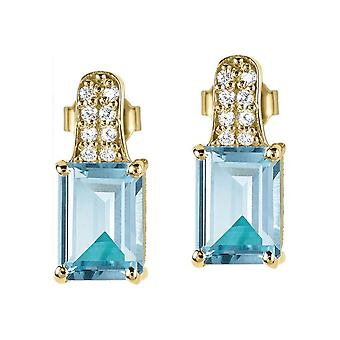 Jacques Lemans - Studs sterling silver plated with Topaz - SE-O114H