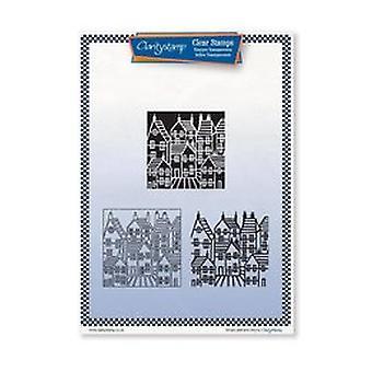Claritystamp Tina's Doodle Blomster Fin linje Umontert Stempel Sett