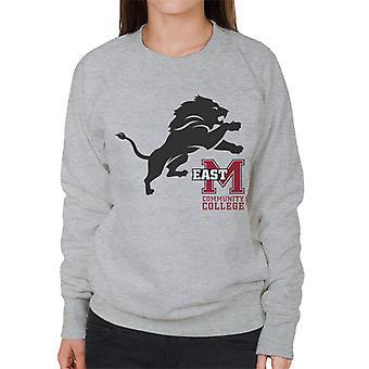 East Mississippi Community College Dark Lion Logo Women's Sweatshirt