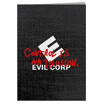 Evil Corp Control Is An Illusion Mr Robot Greeting Card