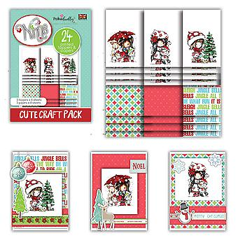 Polkadoodles Winnie Winter Friends Cute Craft Topper Pack