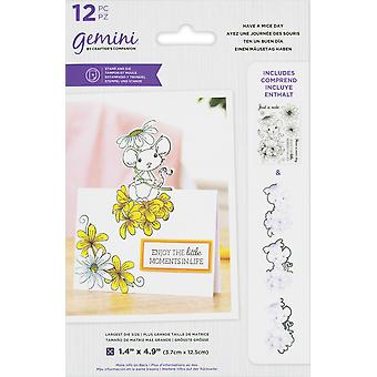Gemini Have A Mice Day Stamp & Die