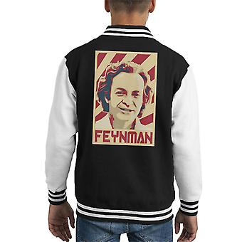 Richard Feynman retro Kid ' s Varsity jacka
