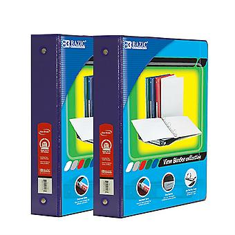 Combo69, BAZIC 1.5 Inch 3-Ring View Binder with 2-Pockets (Case pack of 24: Purple)