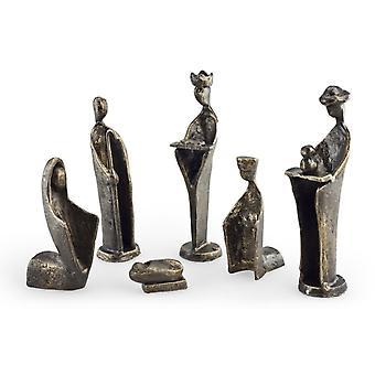 ZI7108L, Danya B 6 pc. Iron Nativity Set, Family & Kings