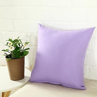 Decorative Solid Candy Color Polyester Throw Pillow Case
