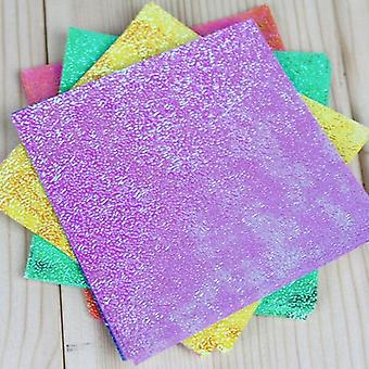Solid Color Square Origami Single Side Shining Folding Papers 50pcs