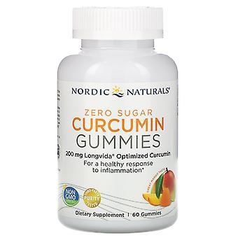 Nordiska Naturals, Curcumin Gummies, Mango, 200 mg, 60 Gummies