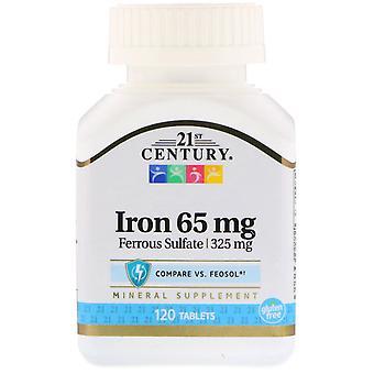 21e eeuw, ijzer, 65 mg, 120 tabletten