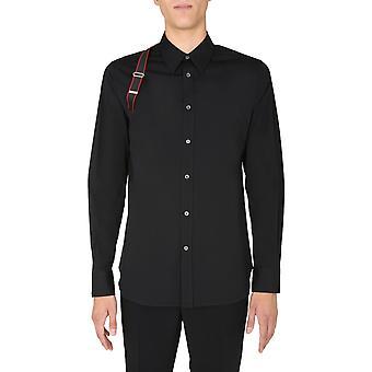 Alexander Mcqueen 615271qpn441000 Männer's schwarze Baumwolle Shirt