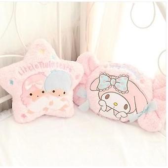 Kawaii Cartoon-Pillow Meine Melodie-Candy kleine Twin-Star-Form Plüsch