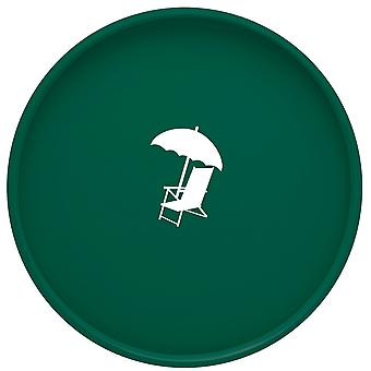Kasualware 14 pouces Rond Portion Tray Chaise de plage verte