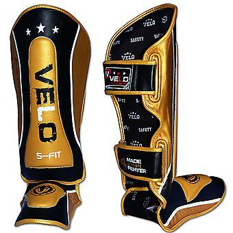 VELO Leather Muay Thai Leg Foot Guards Shin instep MMA TSN13