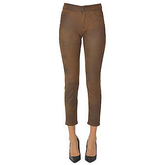 Atelier Cigala's Ezgl457021 Women's Brown Polyester Pants