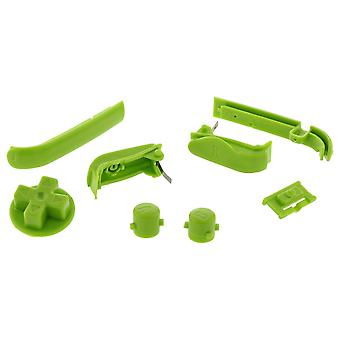 Button set for game boy advance agb-001 nintendo trigger, shoulder, d-pad, on and off buttons replacement - green zedlabz (zedlabz)