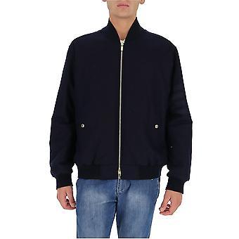 Thom Browne Mjd073x06393415 Men's Blue Wool Outerwear Jacket
