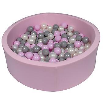 Rózsaszín golyósverem 90 cm 300 golyógyöngyházbal, világos lila és szürke