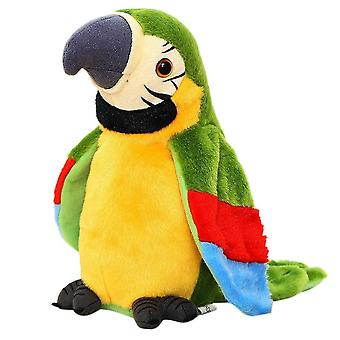 Electric Talking Parrot Plush, Cute Speaking Record Repeats Waving Wings