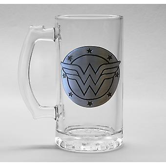 DC Comics Wonder Woman Glass Stein